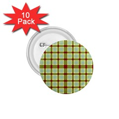 Geometric Tartan Pattern Square 1 75  Buttons (10 Pack) by Nexatart