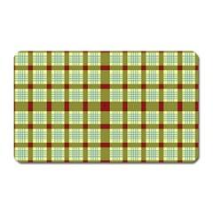 Geometric Tartan Pattern Square Magnet (rectangular) by Nexatart