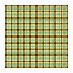 Geometric Tartan Pattern Square Medium Glasses Cloth