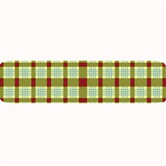 Geometric Tartan Pattern Square Large Bar Mats by Nexatart