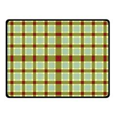 Geometric Tartan Pattern Square Fleece Blanket (small) by Nexatart