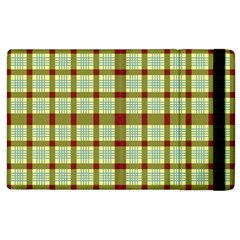 Geometric Tartan Pattern Square Apple Ipad 2 Flip Case