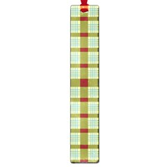 Geometric Tartan Pattern Square Large Book Marks by Nexatart