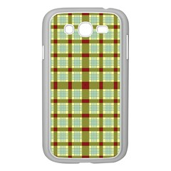 Geometric Tartan Pattern Square Samsung Galaxy Grand Duos I9082 Case (white)