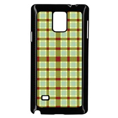 Geometric Tartan Pattern Square Samsung Galaxy Note 4 Case (black)