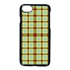 Geometric Tartan Pattern Square Apple Iphone 7 Seamless Case (black) by Nexatart