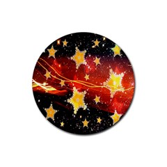 Holiday Space Rubber Round Coaster (4 Pack)