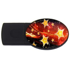 Holiday Space Usb Flash Drive Oval (2 Gb)
