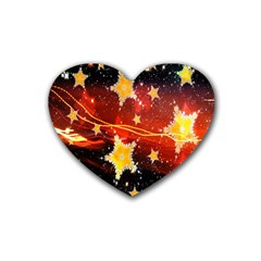 Holiday Space Heart Coaster (4 Pack)