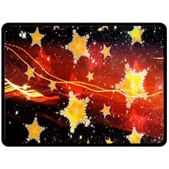 Holiday Space Double Sided Fleece Blanket (large)