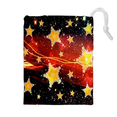 Holiday Space Drawstring Pouches (extra Large) by Nexatart
