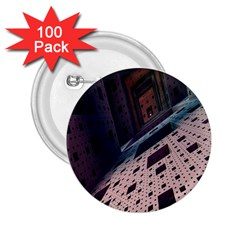 Industry Fractals Geometry Graphic 2 25  Buttons (100 Pack)
