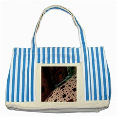 Industry Fractals Geometry Graphic Striped Blue Tote Bag