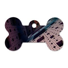 Industry Fractals Geometry Graphic Dog Tag Bone (two Sides)