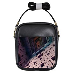 Industry Fractals Geometry Graphic Girls Sling Bags by Nexatart