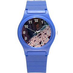 Industry Fractals Geometry Graphic Round Plastic Sport Watch (s)