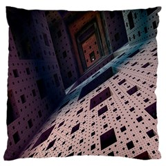 Industry Fractals Geometry Graphic Large Cushion Case (one Side)