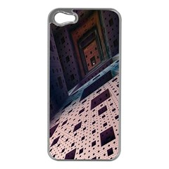 Industry Fractals Geometry Graphic Apple Iphone 5 Case (silver)
