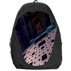 Industry Fractals Geometry Graphic Backpack Bag by Nexatart