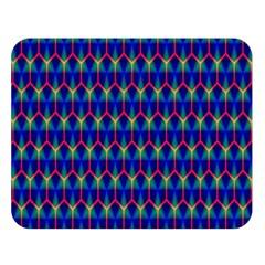 Honeycomb Fractal Art Double Sided Flano Blanket (large)