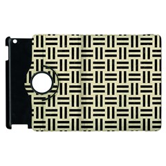 Woven1 Black Marble & Beige Linen (r) Apple Ipad 3/4 Flip 360 Case by trendistuff