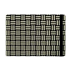 Woven1 Black Marble & Beige Linen Apple Ipad Mini Flip Case by trendistuff