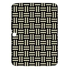 Woven1 Black Marble & Beige Linen Samsung Galaxy Tab 3 (10 1 ) P5200 Hardshell Case  by trendistuff