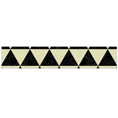 Triangle3 Black Marble & Beige Linen Flano Scarf (large) by trendistuff