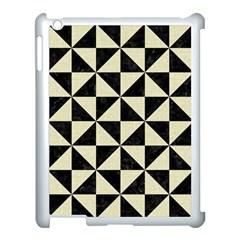 Triangle1 Black Marble & Beige Linen Apple Ipad 3/4 Case (white) by trendistuff