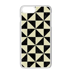 Tri1 Bk Mrbl Bg Lin Apple Iphone 7 Plus White Seamless Case by trendistuff