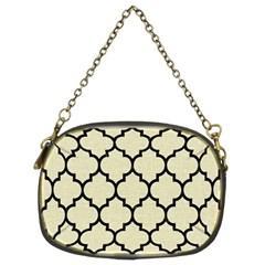 Tile1 Black Marble & Beige Linen (r) Chain Purse (two Sides) by trendistuff