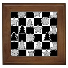 Xmas Checker Framed Tiles by Nexatart