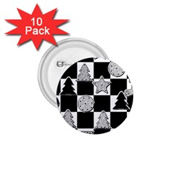 Xmas Checker 1 75  Buttons (10 Pack)