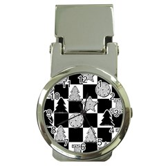 Xmas Checker Money Clip Watches