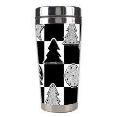 Xmas Checker Stainless Steel Travel Tumblers by Nexatart
