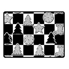 Xmas Checker Double Sided Fleece Blanket (small)  by Nexatart