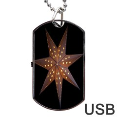 Star Light Decoration Atmosphere Dog Tag Usb Flash (one Side) by Nexatart