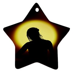 Silhouette Woman Meditation Ornament (star)