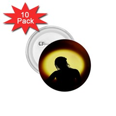 Silhouette Woman Meditation 1 75  Buttons (10 Pack) by Nexatart