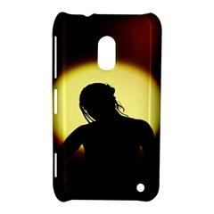 Silhouette Woman Meditation Nokia Lumia 620