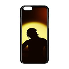 Silhouette Woman Meditation Apple Iphone 6/6s Black Enamel Case