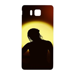 Silhouette Woman Meditation Samsung Galaxy Alpha Hardshell Back Case by Nexatart