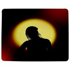 Silhouette Woman Meditation Jigsaw Puzzle Photo Stand (rectangular) by Nexatart