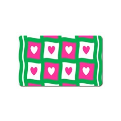 Pink Hearts Valentine Love Checks Magnet (name Card)