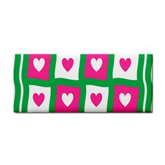 Pink Hearts Valentine Love Checks Cosmetic Storage Cases