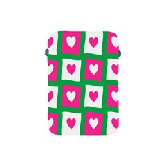 Pink Hearts Valentine Love Checks Apple Ipad Mini Protective Soft Cases