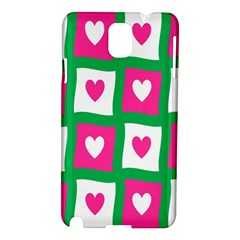 Pink Hearts Valentine Love Checks Samsung Galaxy Note 3 N9005 Hardshell Case