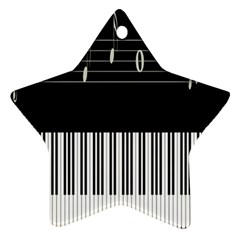 Piano Keyboard With Notes Vector Ornament (star)