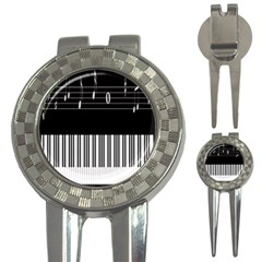 Piano Keyboard With Notes Vector 3 In 1 Golf Divots