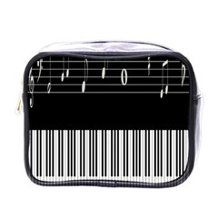 Piano Keyboard With Notes Vector Mini Toiletries Bags